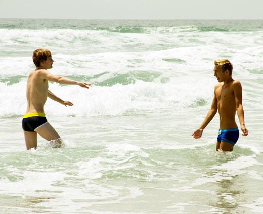 Speedo Boys in the Surf