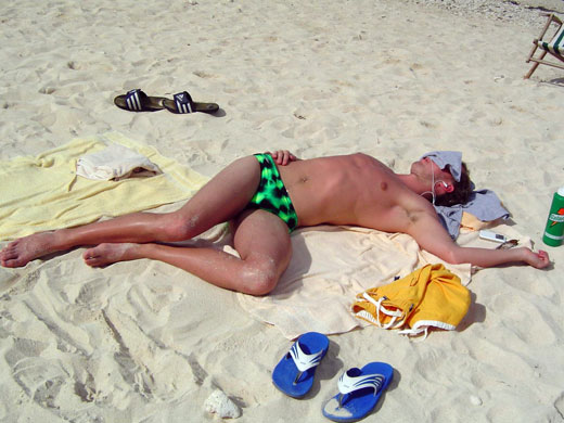 Hung Over in Speedos