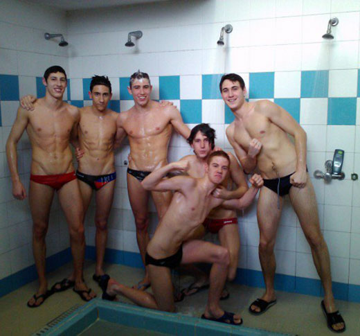 Shower Time in Speedos