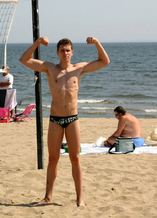 Beach Volleyball in a Speedo