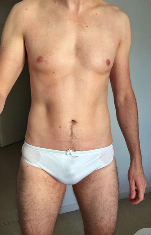 White AussieBum Speedos