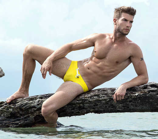 Guy in Yellow Speedos