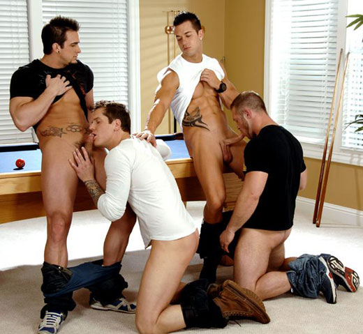 Gay Foursome Sex