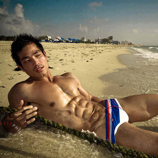 Asian Guy in Speedos