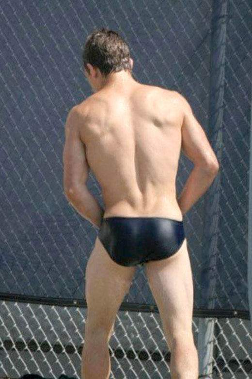Black Bum in Speedos