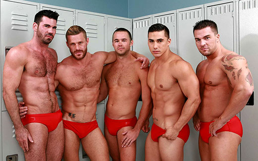 Guys in Red Speedo