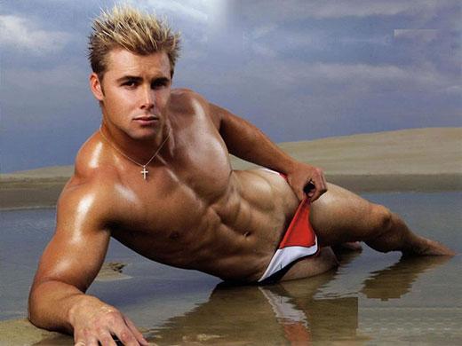 Hot Blonde wearing Speedos