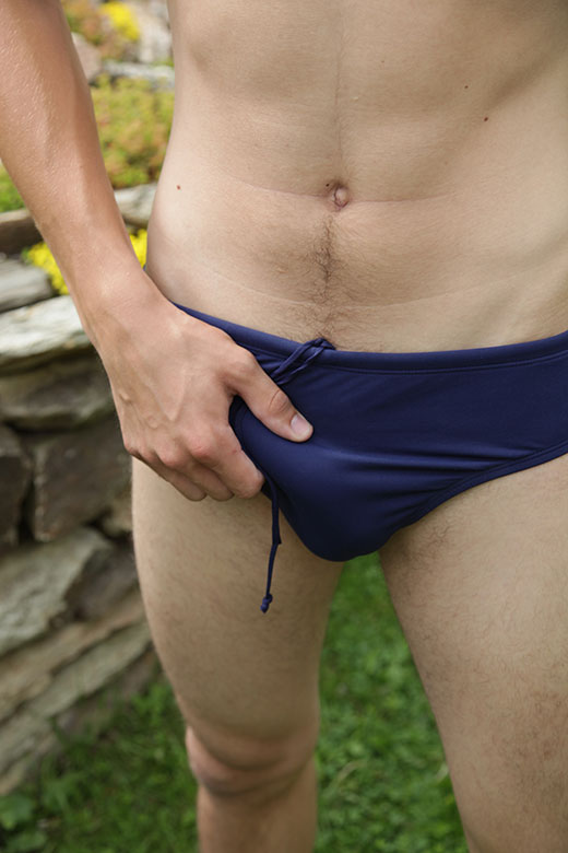 Navy Speedos