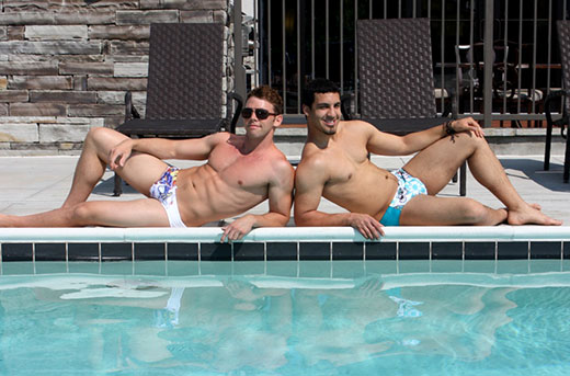 2 Speedo Boys by the Pool