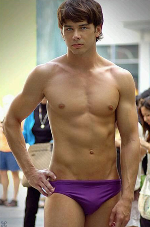 Purple Swim Briefs