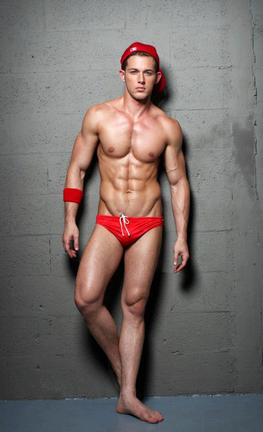 Red Speedo Cutie
