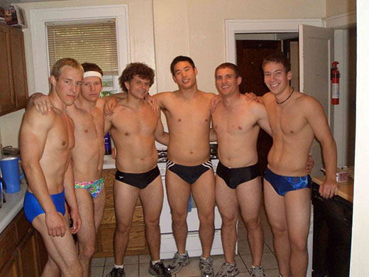 Guys in Speedos