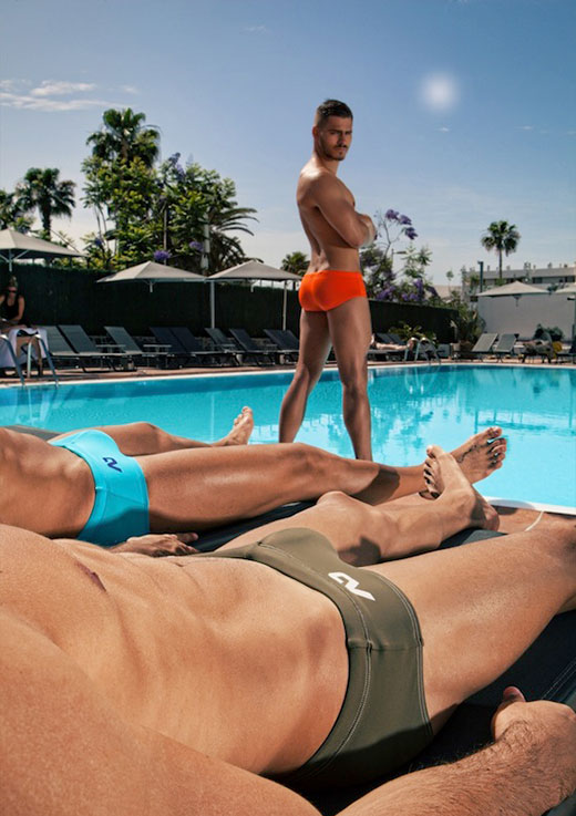 Speedo Men at the Pool