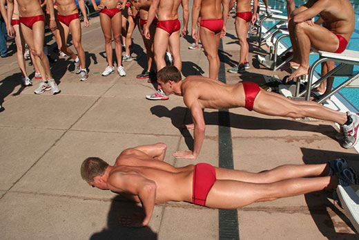 Speedo Push Ups