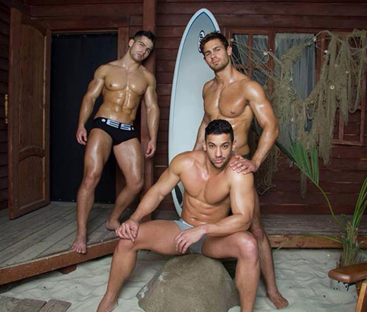 Three Speedo Men