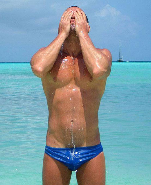 Wet Blue Speedo