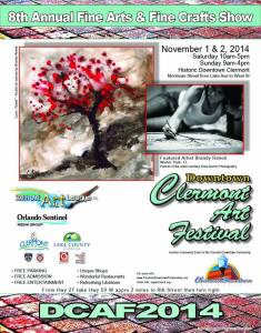 2014 Clermont Arts Festival Poster
