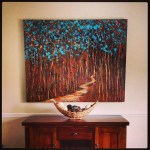 """a 48X60"""" commission piece shown in collectors home in Lakeland, F"""