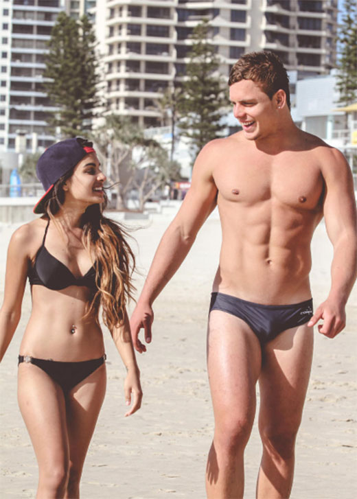 Couple in Speedos