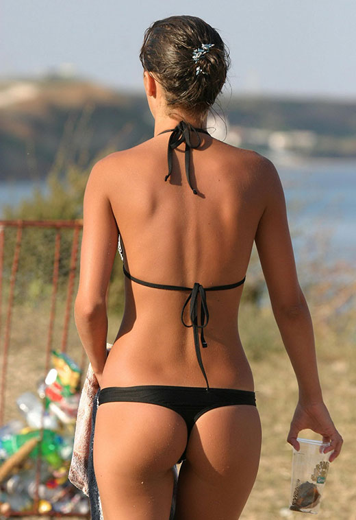 Black G-String Swimsuit