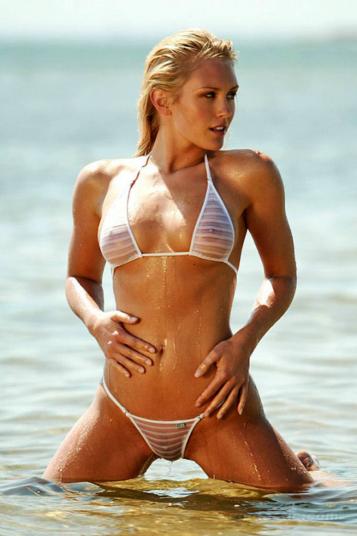 Nicky Whelan String Bikini