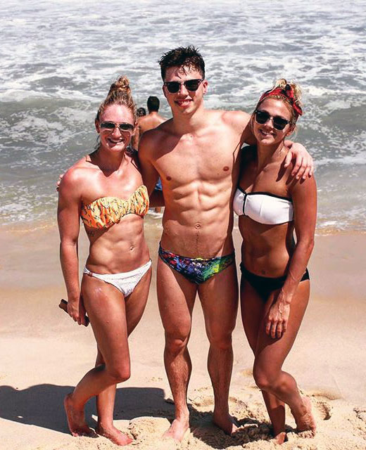 Two Girls, One Guy at the Beach