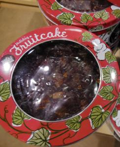Fruitcake in tins are especially nice for practicing your Scottish hurling skills.