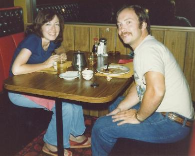 Jerry and me in 1977, the year we were married.