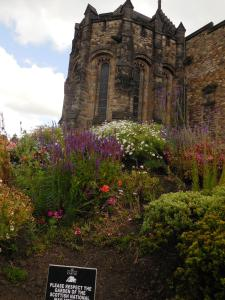 The garden at Edinburgh Castle.