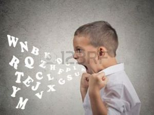 "This is not Oscar, but a child angry enough to spit out alphabet letters trying to spell out ""tantrum coming your way!"""