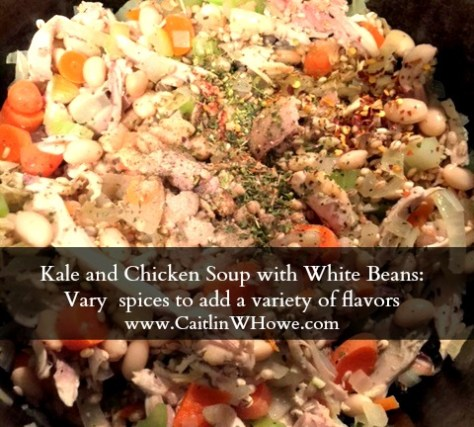 Kale and Chicken Soup with White Beans spices