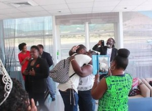 Nicha B being greeted by Family, Friends and Supporters. Photocred: zizonline.com