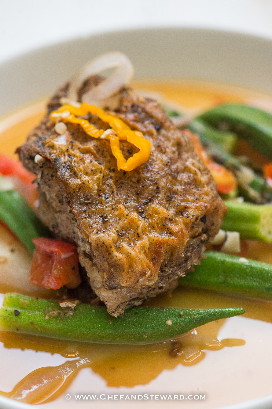 Jamaican brown stew fish recipe chef and steward for Fish stew recipe