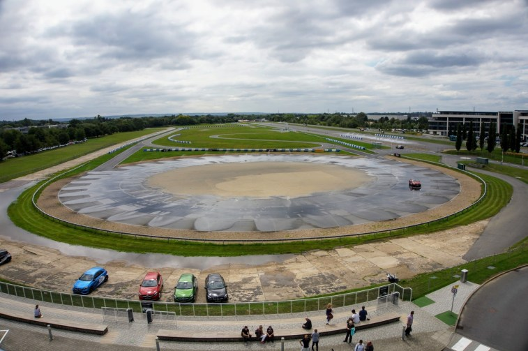 The skidpan track