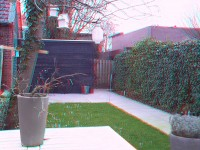 Achtertuin in 3D