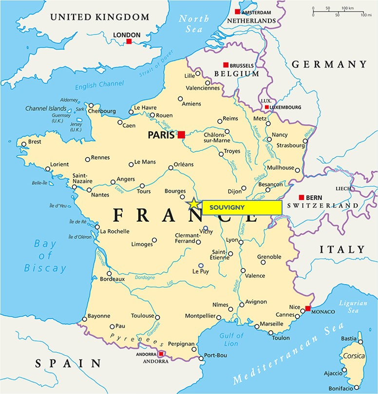 Medieval Map Of France.Update Big News For Souvigny A Medieval Gem In The Deep Heart Of