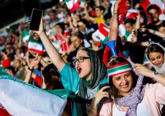 For the first time since 1979 Islamic Revolution, Iranian women were allowed to watch football in the stadium