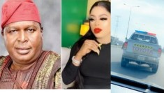 Bobrisky shows off his police escort as NCAC boss, Olusegun Runsewe reveals he gave the order to shut down his birthday (video)