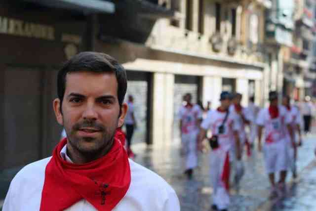 Running with the Bulls in pamplona