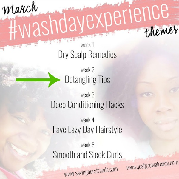 detangling for the wash day experience