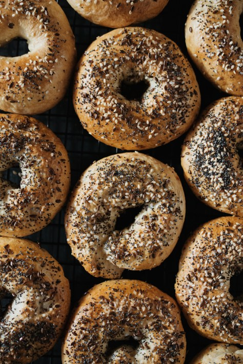 Everything Bagels with Parmesan + Fried Onions