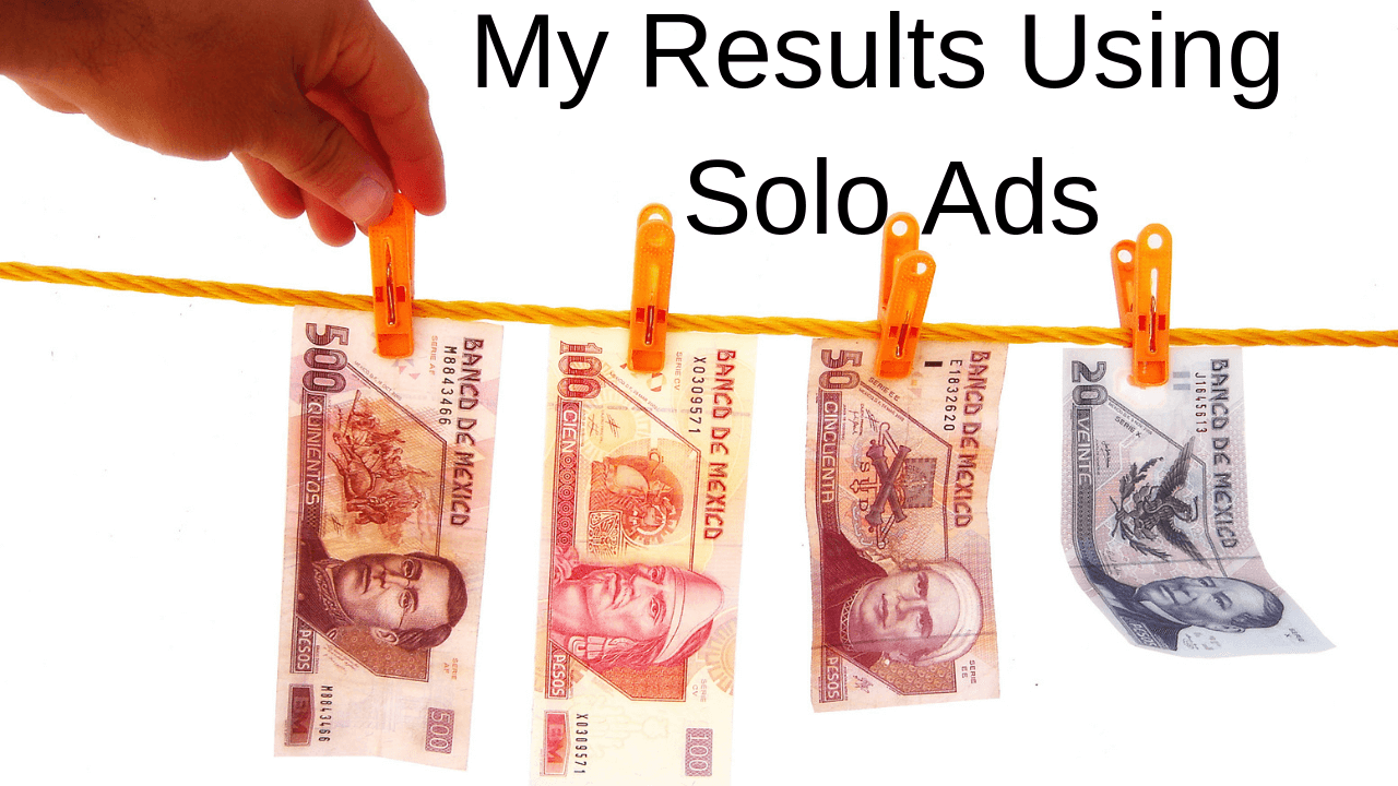 Online Income Masterclass – My Results Using Solo Ads