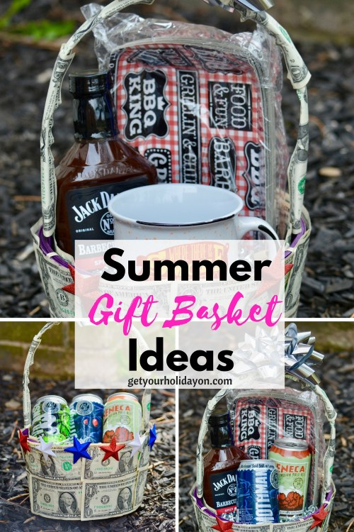 Father's Day Gift Ideas, Father's Day Gift Basket Ideas, Money Gift, Money Unique Gift idea, Unique and Fun Gift Basket, Summer Gift Baskets, and perfect for a graduation money gift basket!