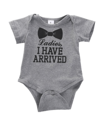 Newborn Baby Boys Girls Bowtie Short Sleeve Romper Bodysuit Playsuit Outfits