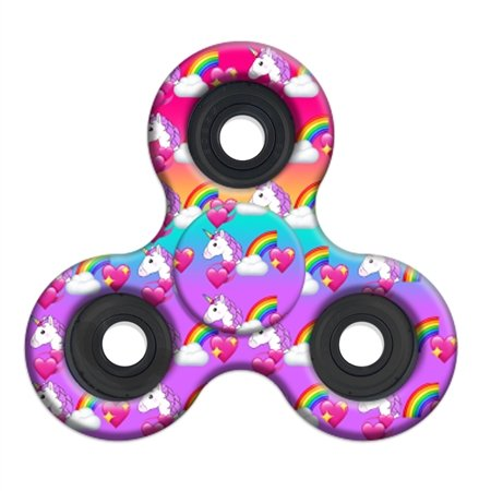 A Unique Girly Unicorn Fidget Spinner that will help relieve stress in kids and adults.