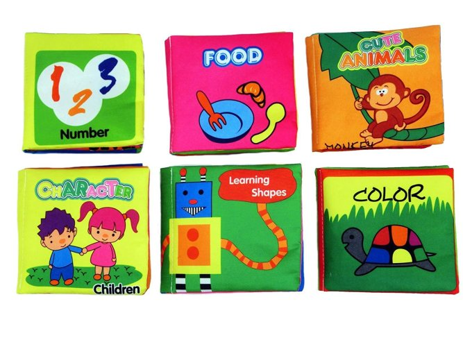 Non-Toxic Soft Cover Cloth Book for Babies & Toddlers