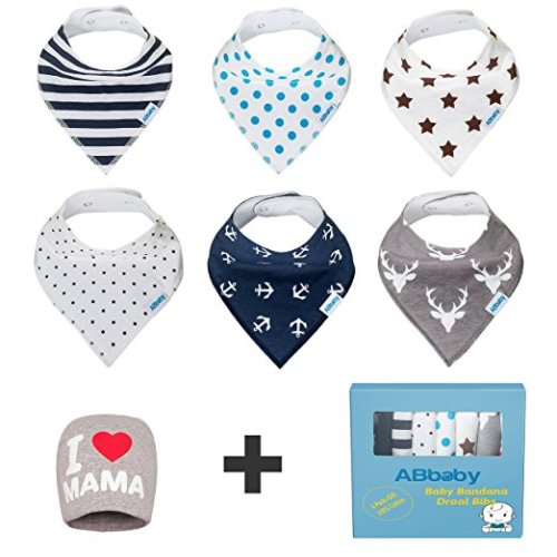 Bandana Baby Bibs gift set for baby great for teething and a baby gift idea.