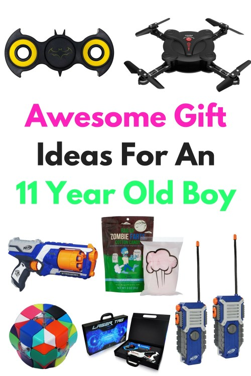 Are you searching for gift ideas for an 11 year old boy? Here are a lot of awesome ideas to use for a birthday present, Christmas gift, in a Easter basket or for another holiday or special occasion. Let's brighten their day with these awesome gift ideas that will be perfect for any eleven year old.
