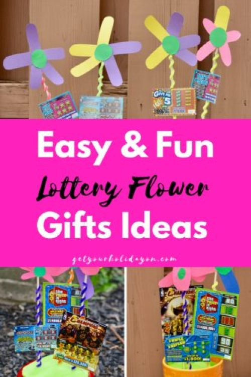 If you're looking for a simple and fun way to give a gift. This is a great idea! A pot of lottery flowers. This is super easy to make and a great DIY Mother's Day Gift Idea.