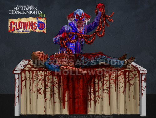 clowns 3d music by slash concept artwork universal studios hollywood 2014